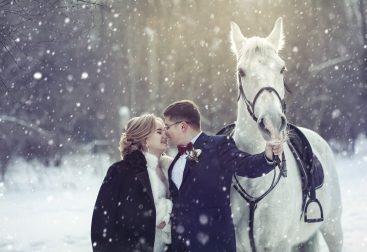 Свадебная фотосъемка с лошадьми