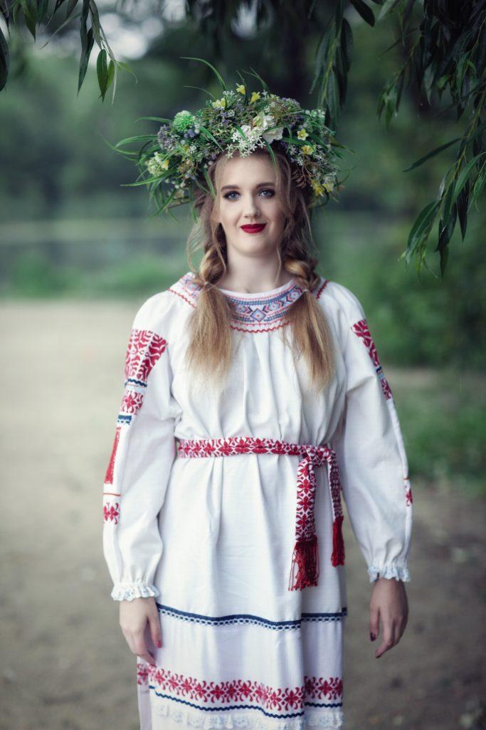 Фотосессия в славянском костюме