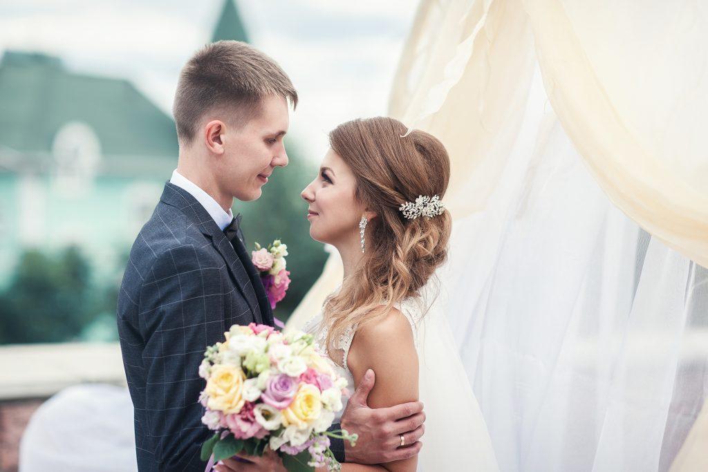 Жених и невеста. Церемония бракосочетания