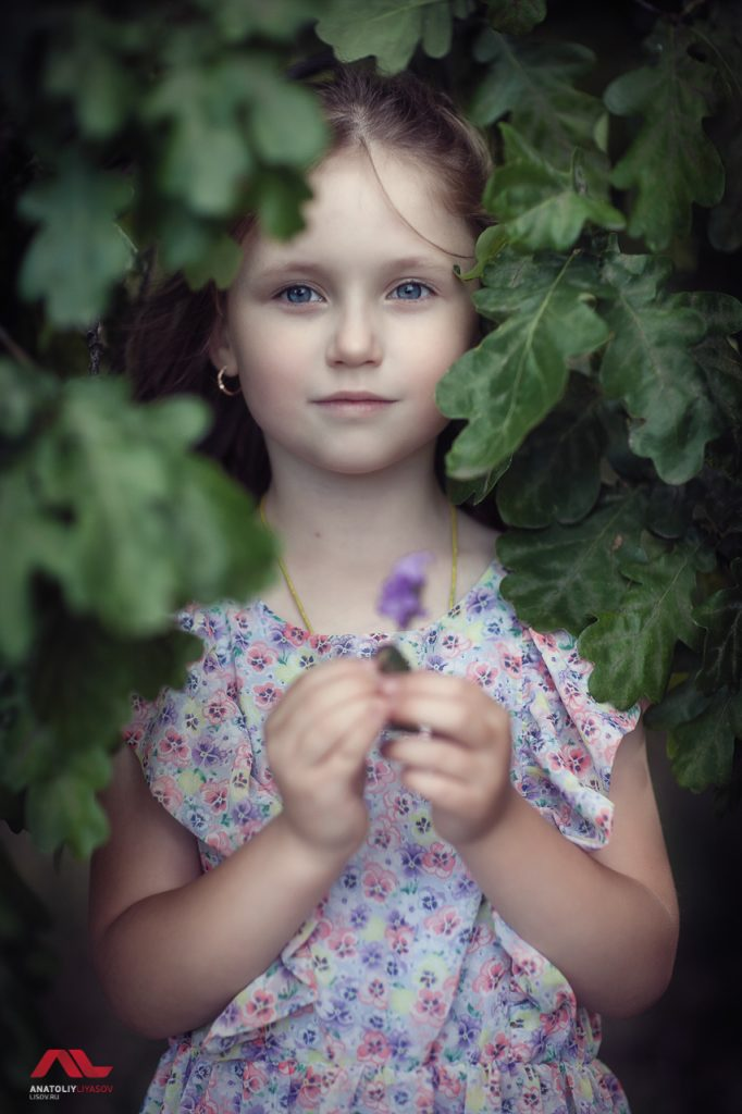 детская фотосессия на природе