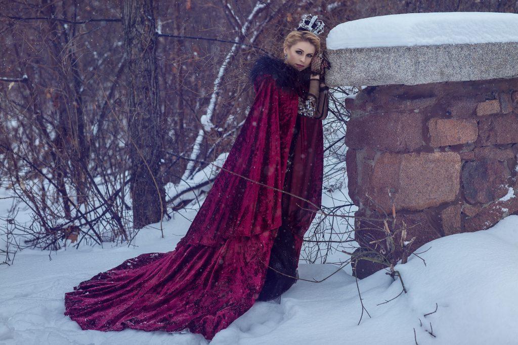 Фотосессия зимой в парке